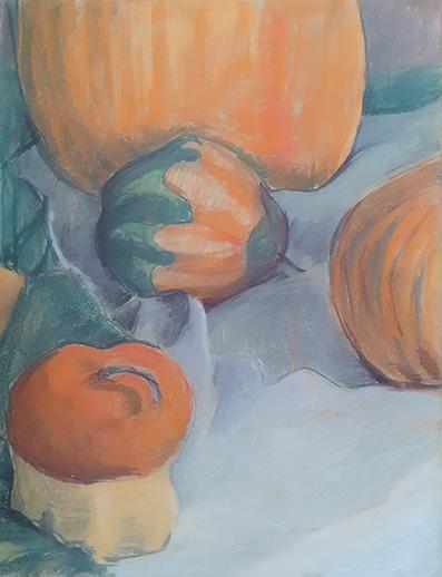 Obraz przedstawiający 4 dynie