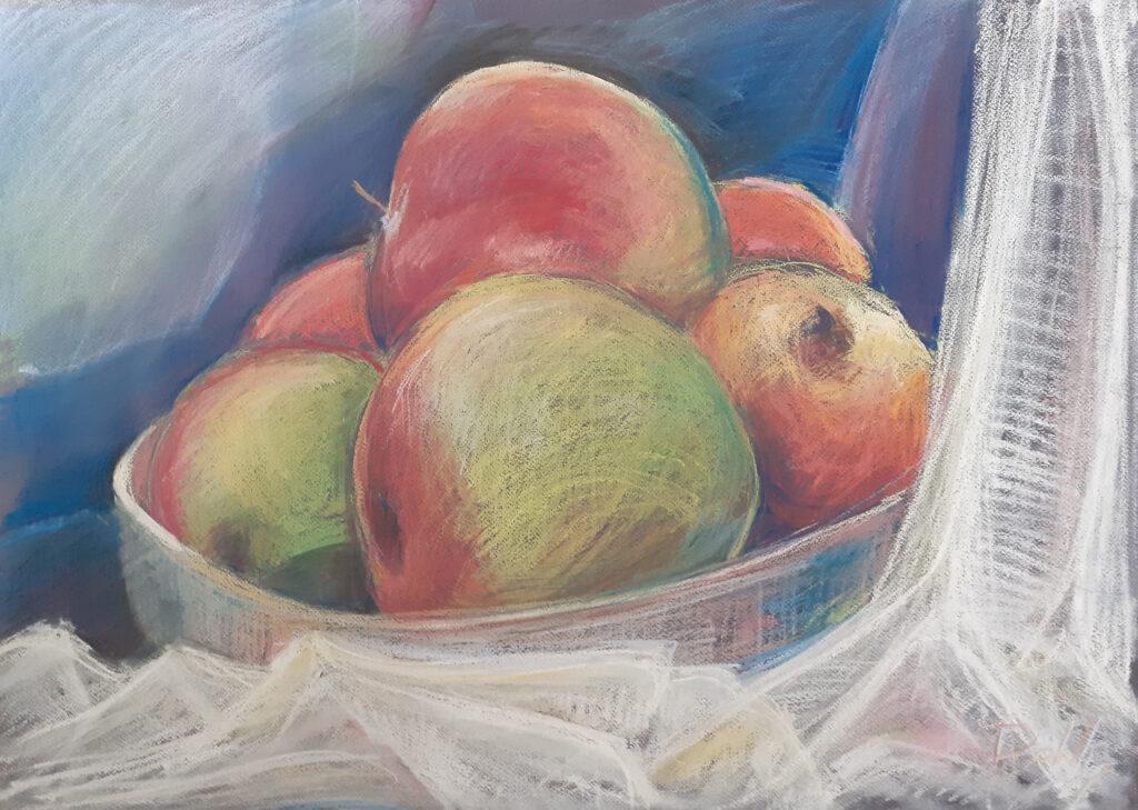 Martwa natura - jabłka w misce