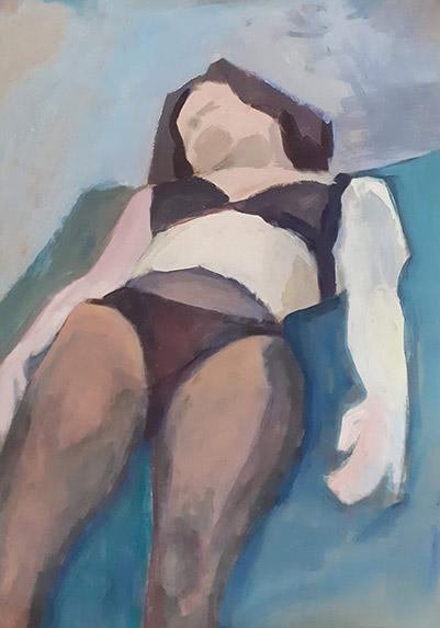 Leżąca kobieta